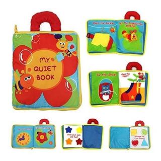 Toalla Ultra Suave Tacto Y Tacto Bebé Libros En 3d Actividad