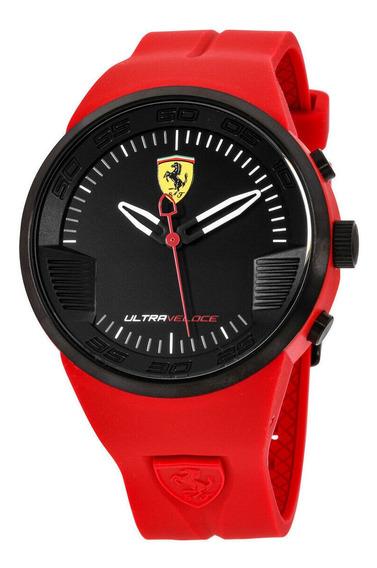 Relógio Masculino Ferrari 0830374 Pulseira De Silicone