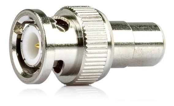 Kit 20 Conector Adaptador Bnc Macho Para Rca Femea - Cftv