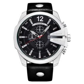 Relógio Pulso Masculino Esporte/social-moderno- Silver/black
