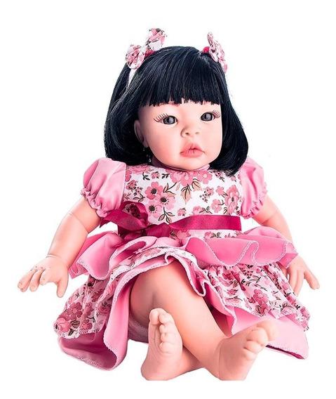Boneca Baby Kiss Morena Bebe Reborn Barata Sem Embalagem