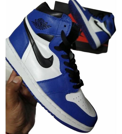 air jordan azul y blanco