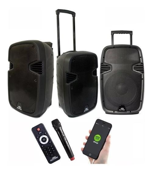 Caixa Som Portátil Amplificada 2800w Bluetooth Microfone Fm