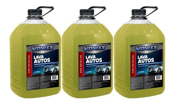 Kit 3 Lava Autos - Shampoo Para Carros - Ph Neutro - Vonixx