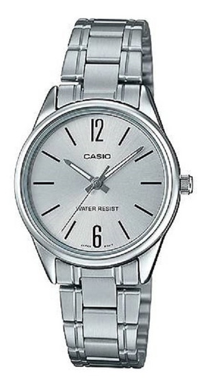 Relógio Casio Feminino Ltp-v005d 7bu Prata Oferta