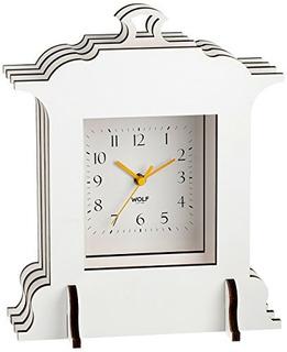 Wolf 333601 Jigsaw Grand Mantel Reloj Blanco