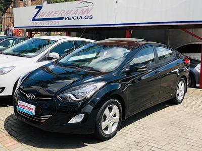 Hyundai Elantra Gls 2013 Flex Teto Solar , Bancos Em Couro