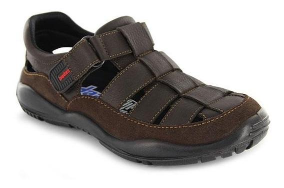 Sandalias De Niño Tiras Cruzadas Y Velcro Café Audaz T18-21