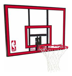 Tablero Basquet Policarbonato Spalding Basket Aro 7 44´´ Importado Sistema Resortes