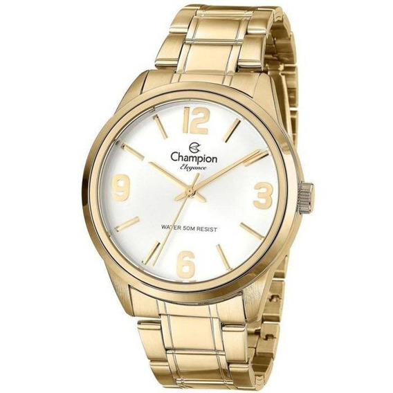 Relógio Champion Feminino Ref: Cn27232h Casual Dourado