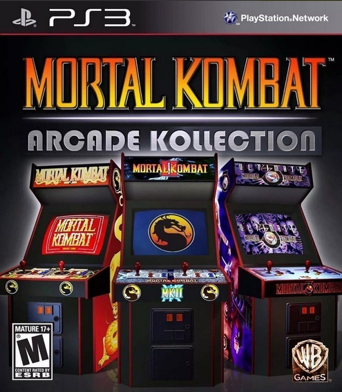 Mortal Kombat Arcade Kollection - Psn Ps3 Play 3