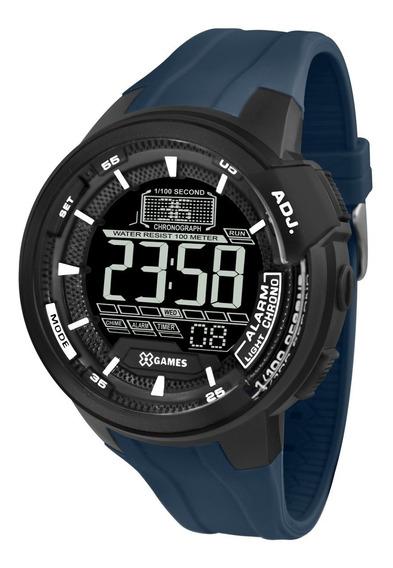 Relógio X-games Masculino Digital Xmppd467 Azul Negativo