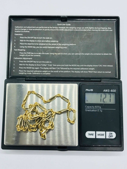 Hermosa Cadena Torsal Italiana Oro De 10k 12.7gr