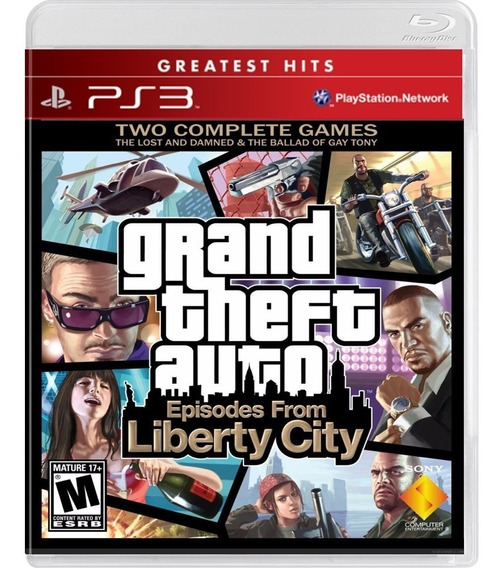 Jogo Gta 4 Iv Liberty City Ps3 Disco Fisico Cd Novo Promoção