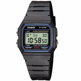 Relógio Casio F-91 W Original Série Prata Original Na Caixa