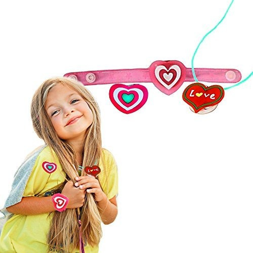 Imagen 1 de 2 de Intermitente San Valentin Heart Bracelet, Necklace, And Broo