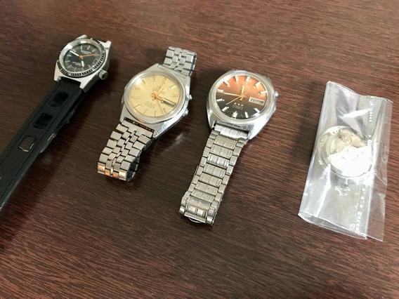 Lote De Relógios Orient, Diver Seawatch E Movimento - Leia
