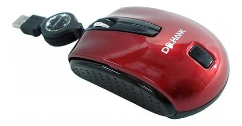 Mini Mouse Optico Retratil Dr.hank Mo-276r-  Usb Blue Tech