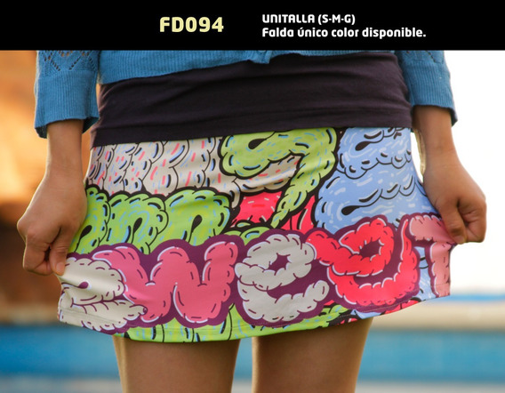 Falda Estampada Con Diseño Juvenil Fd094