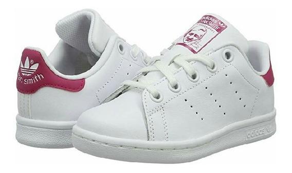 Tenis adidas Originals Stan Smith Niño O Niña De Piel Blanco