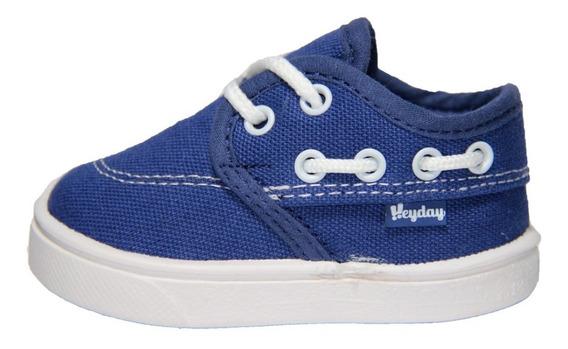 Zapatilla Infantil Heyday Azul Con Cordon