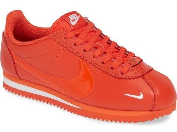 Tenis Nike Classic Cortez Prem Naranja, Nuevo,original