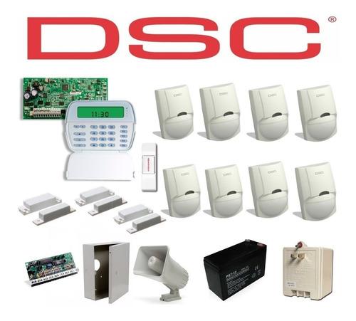 Kit De Alarma Dsc De  3 Contactos Magneticos + 8 Sensores