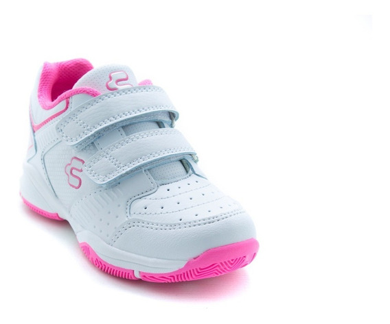 Tenis De Niña Sporty Charly 1069137 Blanco Fiusha Original