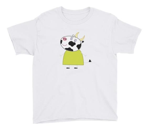 Personalízala Mrs. Cow Playera Niños