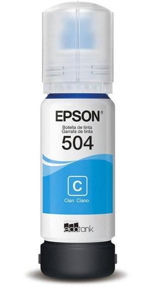 Garrafa De Tinta Epson T504 Ecotank - Ciano (azul)