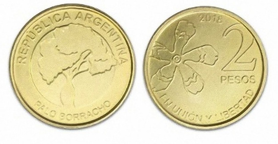 Argentina 2 Pesos 2018 Serie Arboles Sin Circular Palermo
