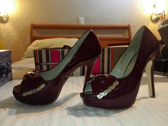 Zapatillas Para Dama Color Vino. Super Sexys!!