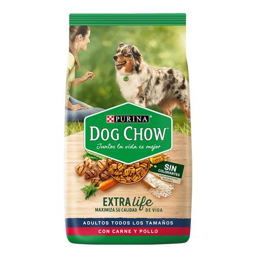 Imagen 1 de 1 de Dog Chow Adultos Todos Los Tamaños S/c- Pollo Y Carne 8 Kg