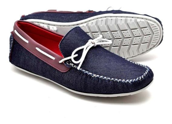 Sapato Mocassim Masculino Couro Casual Confort Elegante