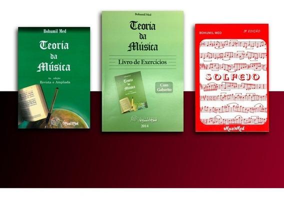 Combo Teoria Música 5a Ed + Caderno Exerc + Solfejo B Med