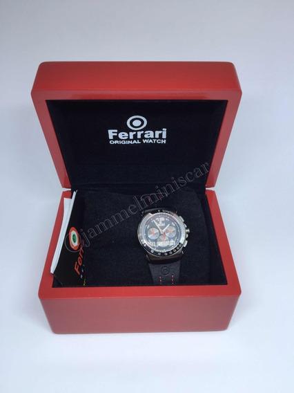 Relógio Masculino Ferrari Pulseira Em Couro