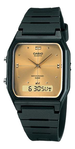 Relógio Casio Aw-48he-9avdf Masculino Preto - Refinado
