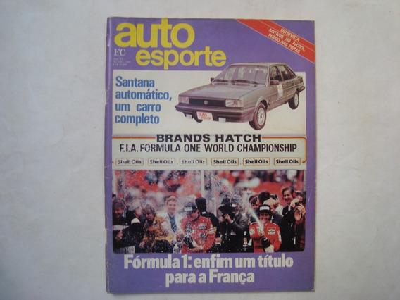 Revista Auto Esporte N. 250 - Santana Automático