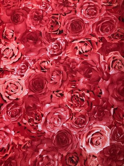 Tecido Estampado Floral Jacquard Lançamento 4 Metros X 2,80m