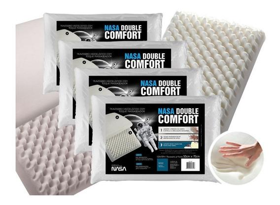 Kit 4 Travesseiros Nasa Double Comfort 3 Fibrasca