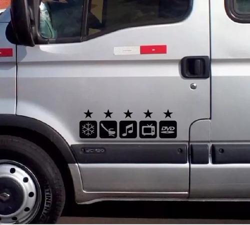 Imagem 1 de 2 de Adesivo Executivo Para Vans E Ônibus 4 Pares