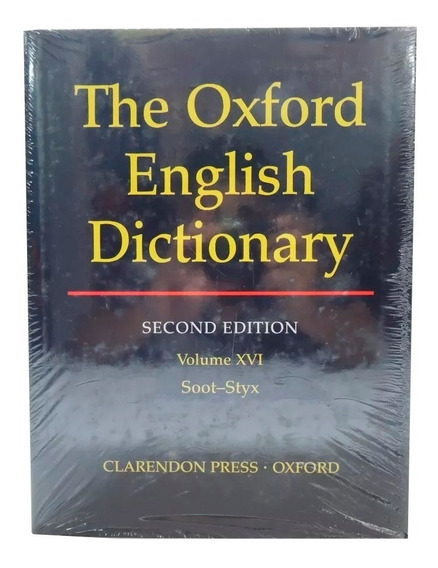 Livro The Oxford English Dictionary 2nd Vol. 16 Em Inglês