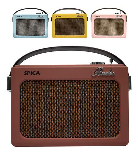 Radio Vintage Parlante Bluetooth Portatil Spica Sp240 Am/fm