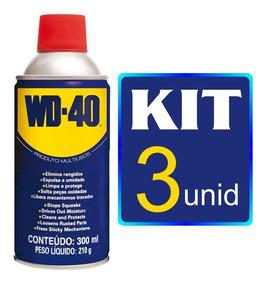 Kit 3 Lubrificantes Wd 40