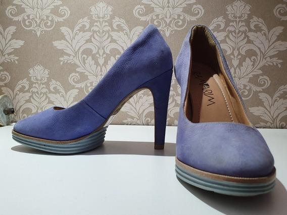 Sapato Meia Pata Ramarim Azul Tam 35