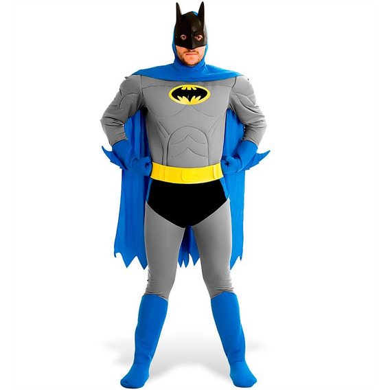 Fantasia Do Batman Adulto Classica Luxo Original Dc Comics