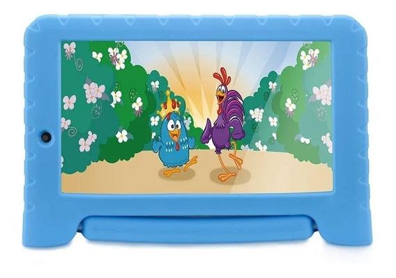 Tablet Infantil Galinha Pintadinha Multilaser 16gb Capa Azul