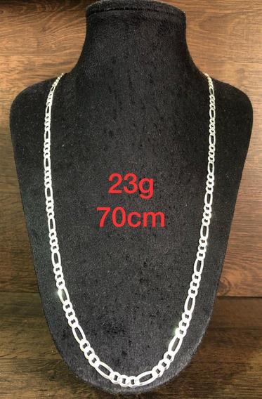 Colar De Prata Italiana 925 Modelo 3x1 23g 70cm