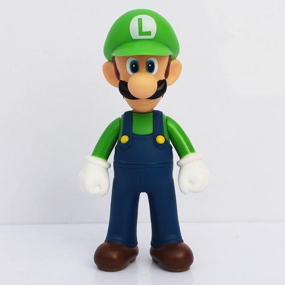 Muñeco Luigi De Mario Bros Nintendo De 12 Cm De Alto