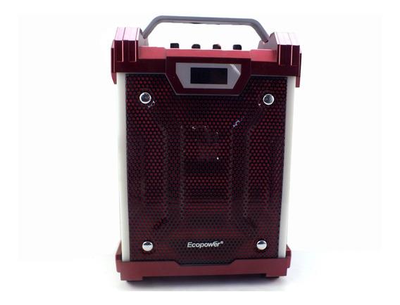 Caixa De Som Ecopower Bluetooth Usb Fm 8w Microfone A10231